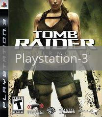 Image of Tomb Raider Underworld original video game for Playstation 3 classic game system. Rocket City Arcade, Huntsville Al. We ship used video games Nationwide