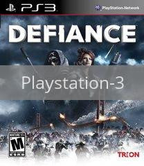 Image of Defiance original video game for Playstation 3 classic game system. Rocket City Arcade, Huntsville Al. We ship used video games Nationwide