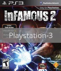 Image of Infamous 2 original video game for Playstation 3 classic game system. Rocket City Arcade, Huntsville Al. We ship used video games Nationwide