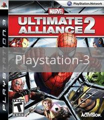 Image of Marvel Ultimate Alliance 2 original video game for Playstation 3 classic game system. Rocket City Arcade, Huntsville Al. We ship used video games Nationwide