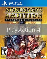 Image of Nobunaga's Ambition: Sphere of Influence original video game for Playstation 4 classic game system. Rocket City Arcade, Huntsville Al. We ship used video games Nationwide
