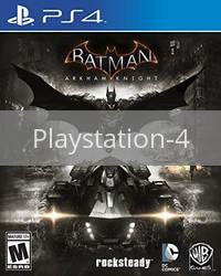 Image of Batman: Arkham Knight original video game for Playstation 4 classic game system. Rocket City Arcade, Huntsville Al. We ship used video games Nationwide
