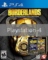 Image of Borderlands: The Handsome Collection original video game for Playstation 4 classic game system. Rocket City Arcade, Huntsville Al. We ship used video games Nationwide