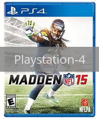 Image of Madden NFL 15 original video game for Playstation 4 classic game system. Rocket City Arcade, Huntsville Al. We ship used video games Nationwide