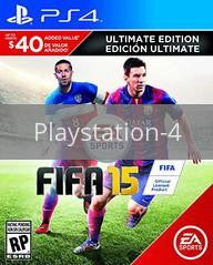 Image of FIFA 15: Ultimate Edition original video game for Playstation 4 classic game system. Rocket City Arcade, Huntsville Al. We ship used video games Nationwide