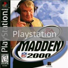 Image of Madden 2000 original video game for Playstation classic game system. Rocket City Arcade, Huntsville Al. We ship used video games Nationwide