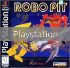 Image of Robo Pit original video game for Playstation classic game system. Rocket City Arcade, Huntsville Al. We ship used video games Nationwide