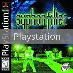 Image of Syphon Filter original video game for Playstation classic game system. Rocket City Arcade, Huntsville Al. We ship used video games Nationwide