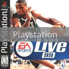 Image of NBA Live 99 original video game for Playstation classic game system. Rocket City Arcade, Huntsville Al. We ship used video games Nationwide