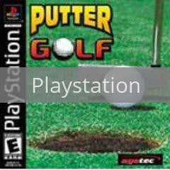 Image of Putter Golf original video game for Playstation classic game system. Rocket City Arcade, Huntsville Al. We ship used video games Nationwide