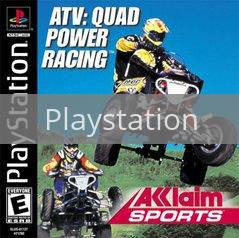 Image of ATV Quad Power Racing original video game for Playstation classic game system. Rocket City Arcade, Huntsville Al. We ship used video games Nationwide