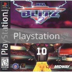 Image of NFL Blitz original video game for Playstation classic game system. Rocket City Arcade, Huntsville Al. We ship used video games Nationwide