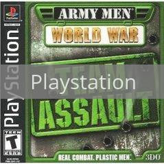 Image of Army Men World War Team Assault original video game for Playstation classic game system. Rocket City Arcade, Huntsville Al. We ship used video games Nationwide
