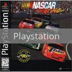 Image of NASCAR Racing original video game for Playstation classic game system. Rocket City Arcade, Huntsville Al. We ship used video games Nationwide