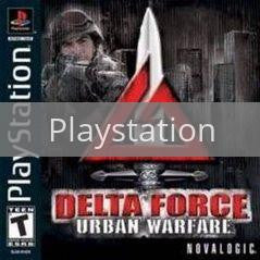 Image of Delta Force Urban Warfare original video game for Playstation classic game system. Rocket City Arcade, Huntsville Al. We ship used video games Nationwide