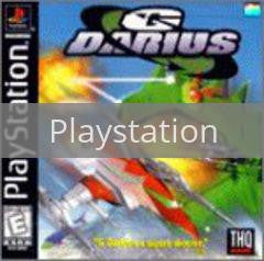 Image of G Darius original video game for Playstation classic game system. Rocket City Arcade, Huntsville Al. We ship used video games Nationwide