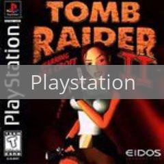 Image of Tomb Raider II original video game for Playstation classic game system. Rocket City Arcade, Huntsville Al. We ship used video games Nationwide