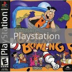 Image of The Flintstones Bedrock Bowling original video game for Playstation classic game system. Rocket City Arcade, Huntsville Al. We ship used video games Nationwide