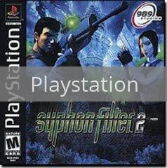 Image of Syphon Filter 2 original video game for Playstation classic game system. Rocket City Arcade, Huntsville Al. We ship used video games Nationwide