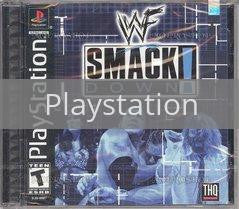Image of WWF Smackdown original video game for Playstation classic game system. Rocket City Arcade, Huntsville Al. We ship used video games Nationwide