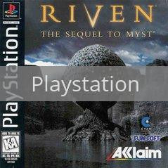 Image of Riven The Sequel to Myst original video game for Playstation classic game system. Rocket City Arcade, Huntsville Al. We ship used video games Nationwide
