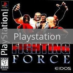Image of Fighting Force original video game for Playstation classic game system. Rocket City Arcade, Huntsville Al. We ship used video games Nationwide