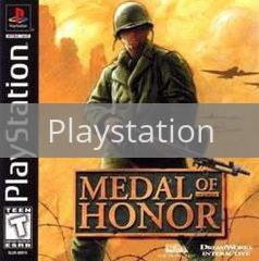Image of Medal of Honor original video game for Playstation classic game system. Rocket City Arcade, Huntsville Al. We ship used video games Nationwide