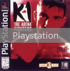 Image of K-1 the Arena Fighters original video game for Playstation classic game system. Rocket City Arcade, Huntsville Al. We ship used video games Nationwide