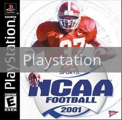 Image of NCAA Football 2001 original video game for Playstation classic game system. Rocket City Arcade, Huntsville Al. We ship used video games Nationwide