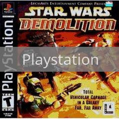 Image of Star Wars Demolition original video game for Playstation classic game system. Rocket City Arcade, Huntsville Al. We ship used video games Nationwide
