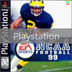 Image of NCAA Football 99 original video game for Playstation classic game system. Rocket City Arcade, Huntsville Al. We ship used video games Nationwide