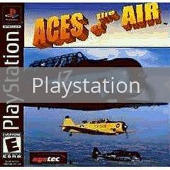Image of Aces of the Air original video game for Playstation classic game system. Rocket City Arcade, Huntsville Al. We ship used video games Nationwide