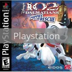 Image of 102 Dalmatians Puppies to the Rescue original video game for Playstation classic game system. Rocket City Arcade, Huntsville Al. We ship used video games Nationwide