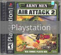 Image of Army Men Air Attack 2 original video game for Playstation classic game system. Rocket City Arcade, Huntsville Al. We ship used video games Nationwide