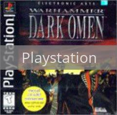 Image of Warhammer Dark Omen original video game for Playstation classic game system. Rocket City Arcade, Huntsville Al. We ship used video games Nationwide