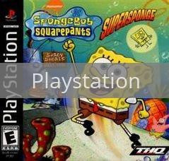 Image of SpongeBob SquarePants Super Sponge original video game for Playstation classic game system. Rocket City Arcade, Huntsville Al. We ship used video games Nationwide