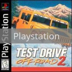 Image of Test Drive Off Road 2 original video game for Playstation classic game system. Rocket City Arcade, Huntsville Al. We ship used video games Nationwide