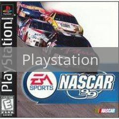 Image of NASCAR 99 original video game for Playstation classic game system. Rocket City Arcade, Huntsville Al. We ship used video games Nationwide