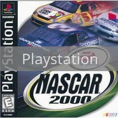 Image of NASCAR 2000 original video game for Playstation classic game system. Rocket City Arcade, Huntsville Al. We ship used video games Nationwide