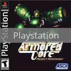 Image of Armored Core Project Phantasma original video game for Playstation classic game system. Rocket City Arcade, Huntsville Al. We ship used video games Nationwide