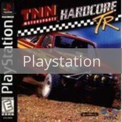 Image of TNN Motorsports Hardcore TR original video game for Playstation classic game system. Rocket City Arcade, Huntsville Al. We ship used video games Nationwide