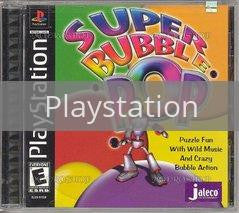 Image of Super Bubble Pop original video game for Playstation classic game system. Rocket City Arcade, Huntsville Al. We ship used video games Nationwide
