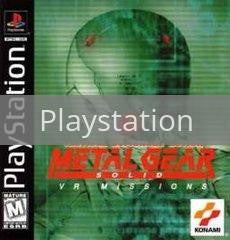 Image of Metal Gear Solid VR Missions original video game for Playstation classic game system. Rocket City Arcade, Huntsville Al. We ship used video games Nationwide