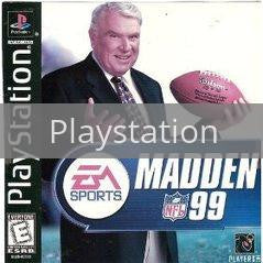 Image of Madden 99 original video game for Playstation classic game system. Rocket City Arcade, Huntsville Al. We ship used video games Nationwide