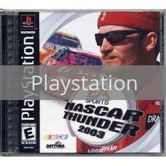 Image of NASCAR Thunder 2003 original video game for Playstation classic game system. Rocket City Arcade, Huntsville Al. We ship used video games Nationwide