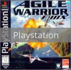 Image of Agile Warrior F-111X original video game for Playstation classic game system. Rocket City Arcade, Huntsville Al. We ship used video games Nationwide