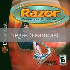 Image of Razor Freestyle Scooter original video game for Sega Dreamcast classic game system. Rocket City Arcade, Huntsville Al. We ship used video games Nationwide