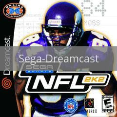 Image of NFL 2K2 original video game for Sega Dreamcast classic game system. Rocket City Arcade, Huntsville Al. We ship used video games Nationwide