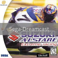 Image of Suzuki Alstare Extreme Racing original video game for Sega Dreamcast classic game system. Rocket City Arcade, Huntsville Al. We ship used video games Nationwide