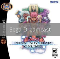 Image of Phantasy Star Online original video game for Sega Dreamcast classic game system. Rocket City Arcade, Huntsville Al. We ship used video games Nationwide